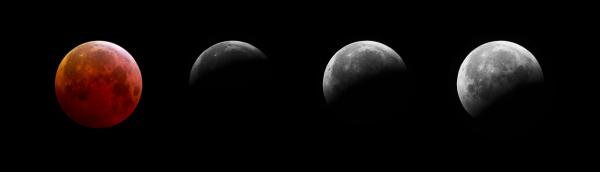 Éclipse totale de Lune, composition
