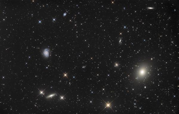 M 49 + NGC 4535 + NGC 4526