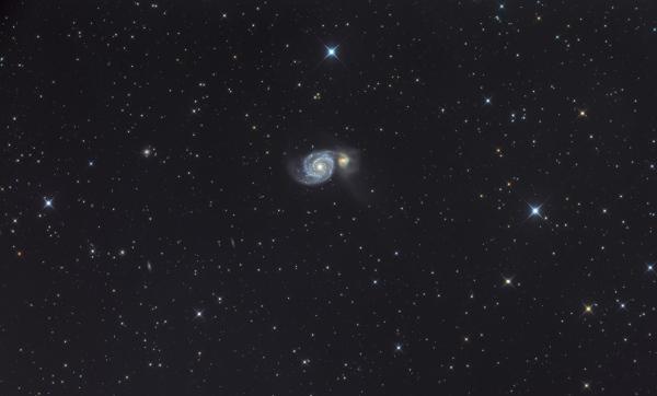 M 51, la galaxie des chiens de chasse