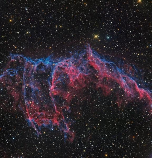 NGC 6992, la grande dentelle du Cygne